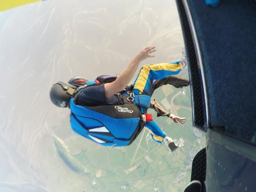 Laura skydive jump