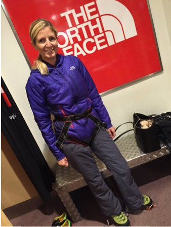 Laura Ice Climbing Outfit