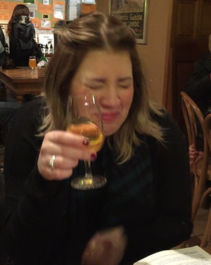 Carla certainly didn't enjoy her free lambic