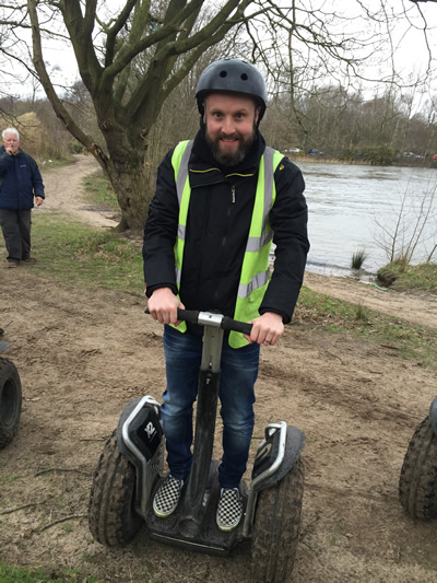 Gaz enjoying Segwaying