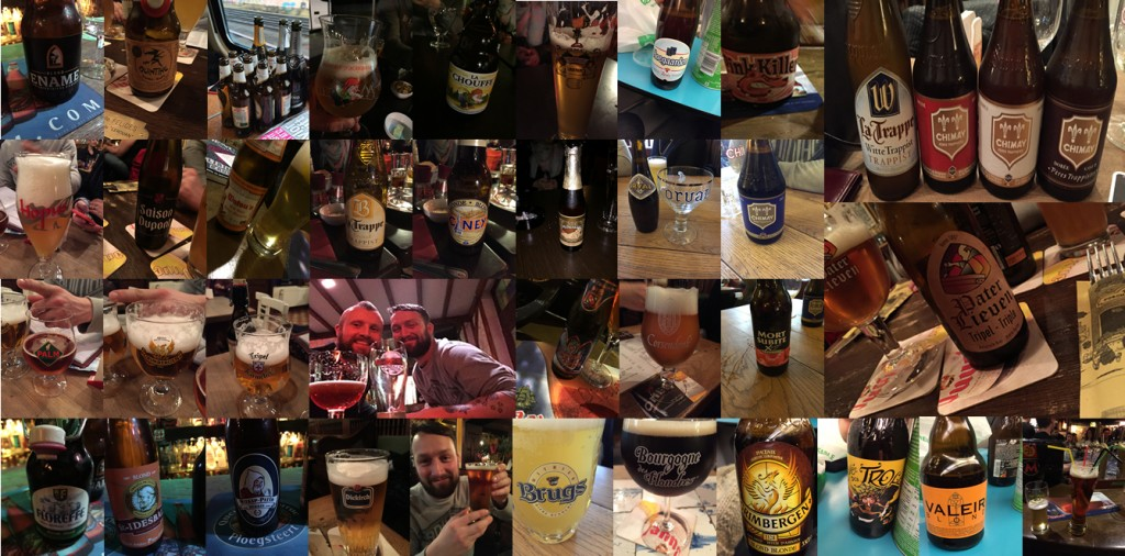 A selection of the beers conquered on our 100 beer challenge