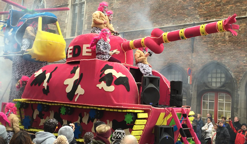 Amazing and colourful carnival at Brugges