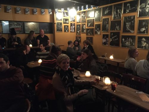 """Mojos blues bar - walls adorned with pictures of blue legends - I assume as I know little or nothing about the blues. Although I did make up a blues song on the way home. The only line I can remember is """"I went to Copenhagen for an open sandwich but when I got there it was closed."""""""