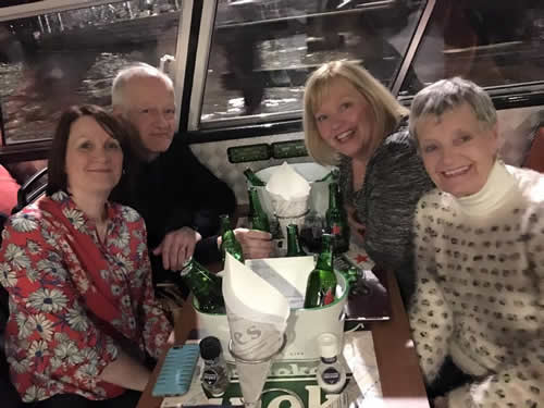 Nicola, RIck, Doreen and Brenda on the lover's cruise