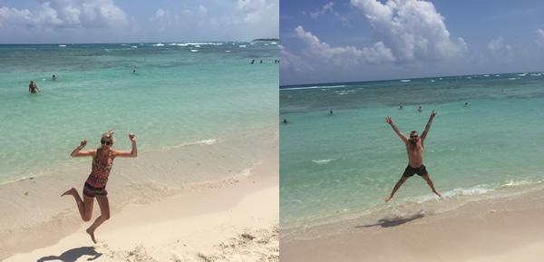 Beautiful beach at Riveira Maya