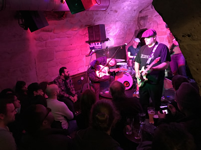 Caveau des Oubliettes, a jam packed live music venue within a cave/cellar
