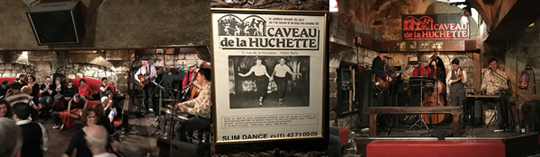 Chateau de la Huchette - amazing jazz/swing speakeasy.