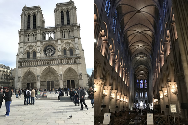 Notre Dame - and not a hunchback pose in sight