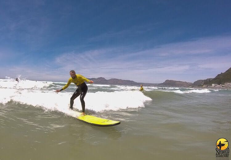 Stoked School of Surf in Cape Town did a great job in teaching us to surf