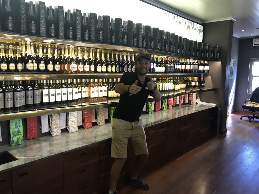 Wine selection at Villiera Wine Estate