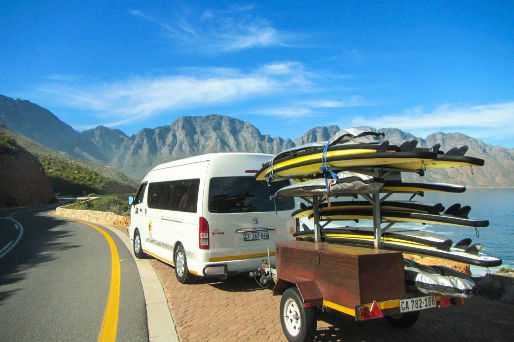 Stoked School of Surf minibus